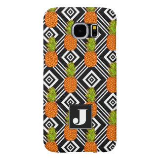 Geometric Pineapples | Monogram Samsung Galaxy S6 Cases