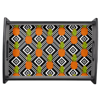 Geometric Pineapples Serving Tray