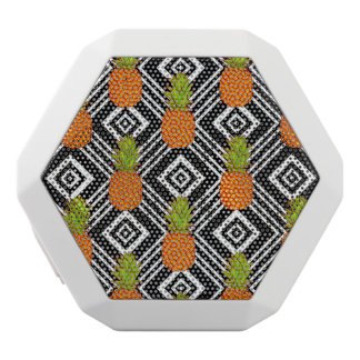 Geometric Pineapples White Bluetooth Speaker
