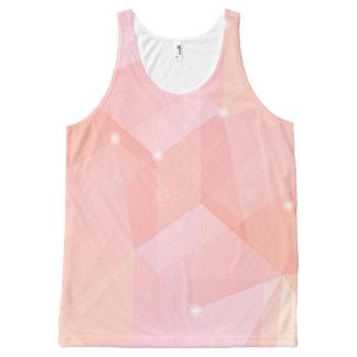 Geometric Pink, All-Over Print Tank Top