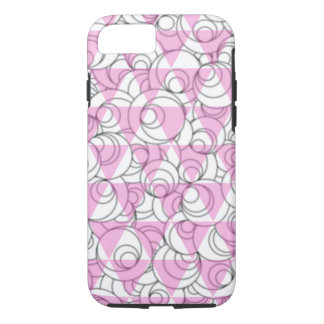 geometric pink and white bubbles iPhone 8/7 case