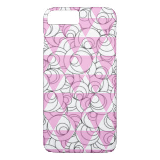geometric pink and white bubbles iPhone 8 plus/7 plus case