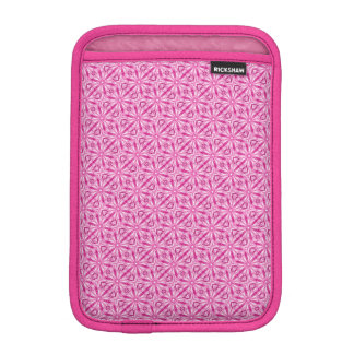Geometric Pink Fractal Diagonal Pattern iPad Mini Sleeve