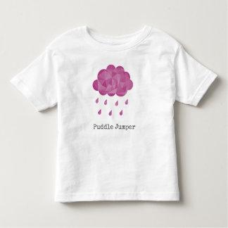 Geometric Pink Rain Cloud Puddle Jumper Toddler T-Shirt