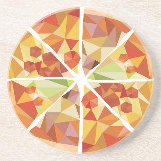 Geometric pizza coaster
