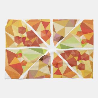 Geometric pizza tea towel
