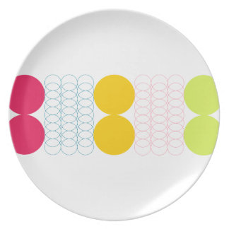 Geometric Plate by Florence Dashiell