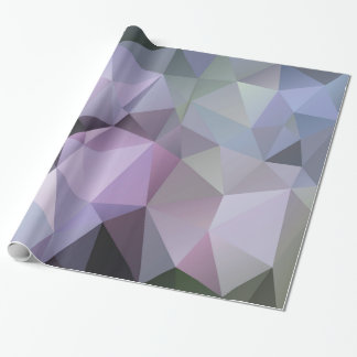 Geometric Polygon Wrapping Paper -Spring Hydrangea