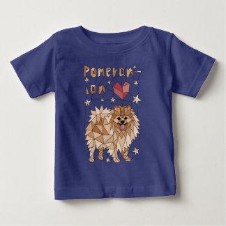 Geometric Pomeranian Baby T-Shirt