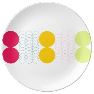 Geometric Porcelain Plate by Florence Dashiell