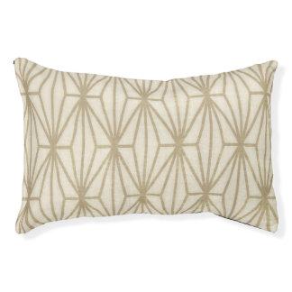 Geometric Print Dog Bed, Beige