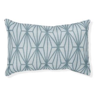Geometric Print Dog Bed, Dusty Teal
