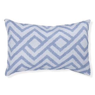 Geometric Print Dog Bed, Indigo Blue