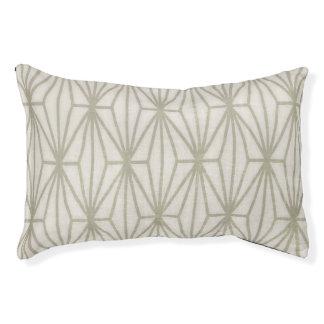 Geometric Print Dog Bed, Taupe