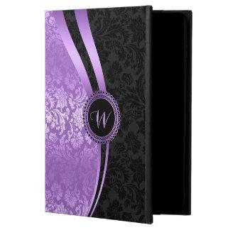Geometric Purple & Black Floral Damasks Powis iPad Air 2 Case