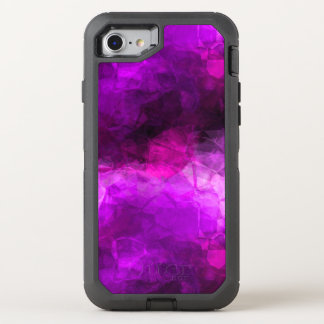 Geometric Purples Abstract OtterBox Defender iPhone 8/7 Case