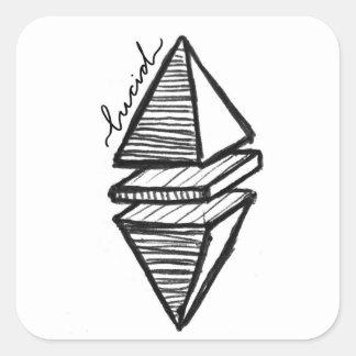 Geometric Pyramid Sticker