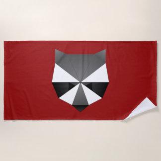 Geometric Raccoon Beach Towel