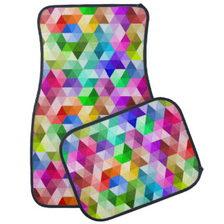 Geometric Rainbow Colors Modern Pattern Car Mats