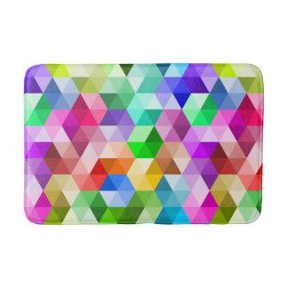 Geometric Rainbow Colors Trendy Pattern Bath Mat