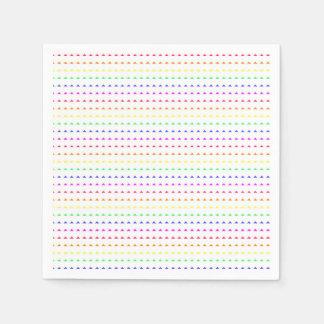 Geometric Rainbow Disposable Serviette