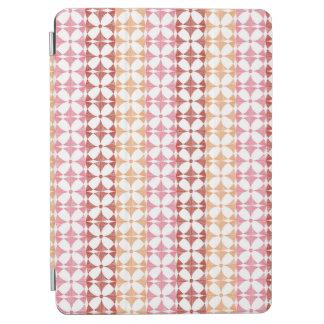 Geometric red ikat stripes pattern iPad air cover