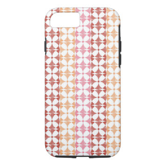 Geometric red ikat stripes pattern iPhone 8/7 case