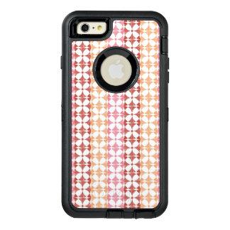 Geometric red ikat stripes pattern OtterBox defender iPhone case