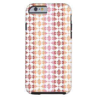 Geometric red ikat stripes pattern tough iPhone 6 case