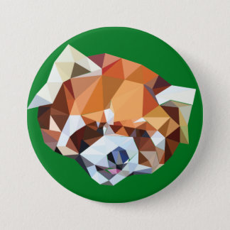 Geometric Red Panda 7.5 Cm Round Badge