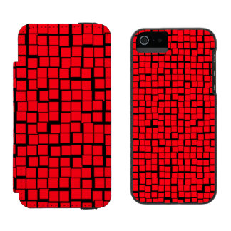 Geometric red pattern incipio watson™ iPhone 5 wallet case