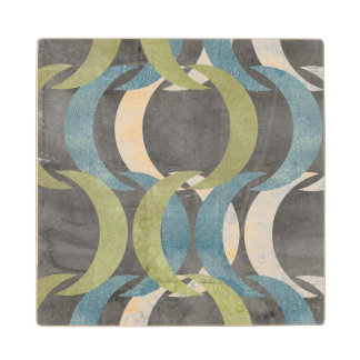 Geometric Repeat I Wood Coaster