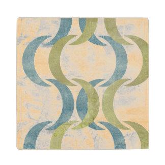 Geometric Repeat III Wood Coaster