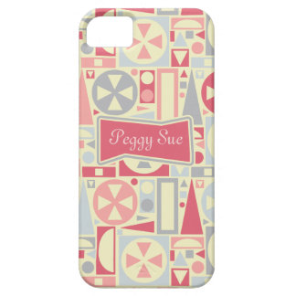 Geometric Retro 1950s Mid-Century Modern Name Case For The iPhone 5