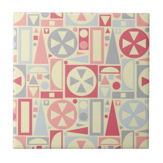Geometric Retro 1950s Midcentury Modern Pink Tile