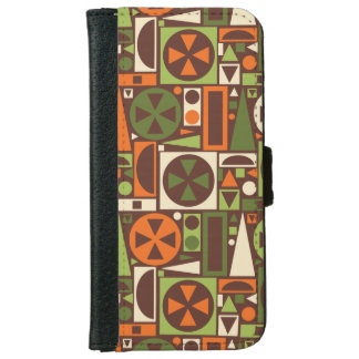 Geometric Retro 50s Mid-Century Modern Abstract iPhone 6 Wallet Case