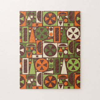 Geometric Retro 50s Mid-Century Modern Abstract Jigsaw Puzzle