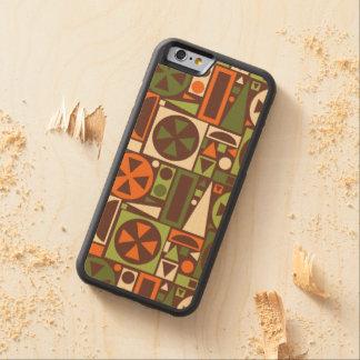 Geometric Retro 50s Mid-Century Modern Abstract Maple iPhone 6 Bumper