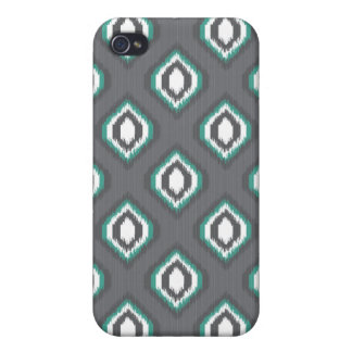 Geometric retro ikat tribal pattern cover for iPhone 4