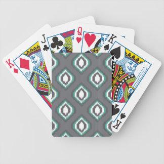Geometric retro ikat tribal pattern poker deck