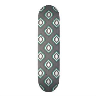 Geometric retro ikat tribal pattern skate deck