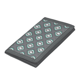 Geometric retro ikat tribal pattern trifold wallets
