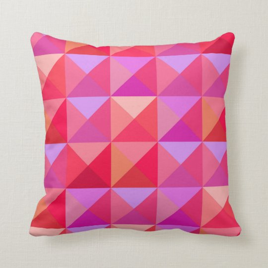 Geometric Retro Pink Cushion