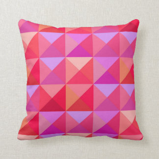 Geometric  Retro Pink Throw Pillow