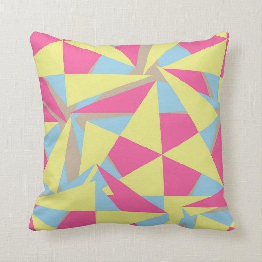 Geometric Retro Style Funky Pink Blue Yellow Grey
