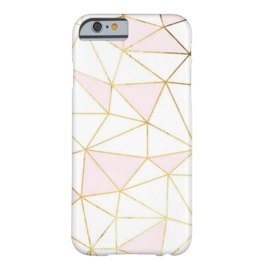 Geometric rose gold iPhone 6/6s, Barely There Barely