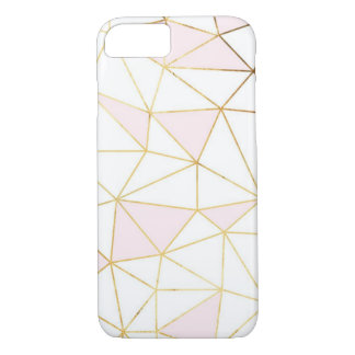 Geometric rose gold iPhone 7, Barely There iPhone 7 Case