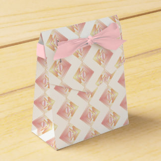 Geometric Rosy Pattern Wedding Favor Box Wedding Favour Box
