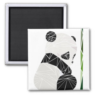 Geometric sad panda magnet
