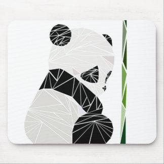 Geometric sad panda mouse mat